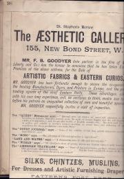 The Aesthetic Gallery, 55 New Bond Street (F. B. Goodyer, proprietor)