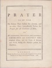 Printed pamphlet on King George III's illness
