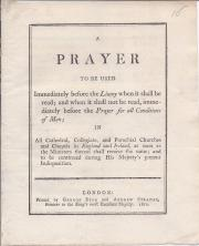 Printed pamphlet on King George III's illness