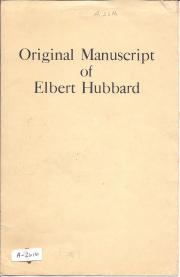 Original typescript with manuscript corrections by Elbert Hubbard