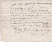 Autograph itemised 'pay Bill for Captain Carrs. Recruiting Party'
