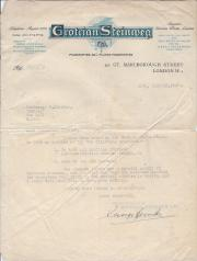 Typed Letter Signed from George Hands, director, Grotrian Steinweg Ltd