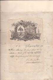 Early Membership Certificate  for the Glasgow Renfrewshire Society.