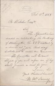 Autograph Letter Signed from 'M. McSweeney', of the American Association