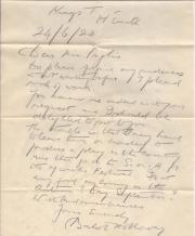 Autograph Letter Signed from the Shakespearian actor Balliol Holloway