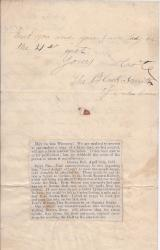 "Autograph Note Signed ""The Blacksmith of Gretna Green"""