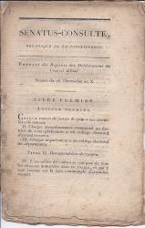 Constitution de l'an X; Napoleon