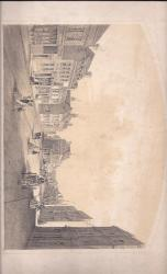 Original sepia lithograph engraving, titled 'Newland Street, Witham'