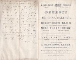 Adelaide Helen Calvert to an unnamed theatre proprietor
