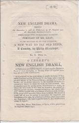 Prospectus for Oxberry's 'New English Drama'