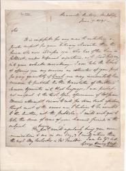 Autograph Letter Signed ('George Henry Glasse')