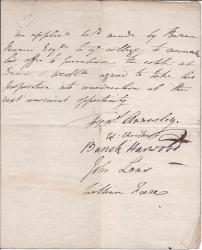 Document Signed by major figures in Downing College (1807)