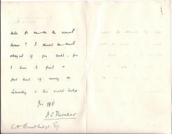 Autograph Letter Signed J S Fletcher, novelist,