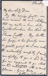 Autograph Letter Signed from the Scottish novelist Catherine Sinclair