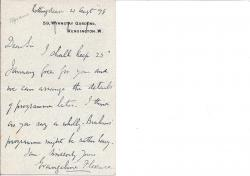 Autograph Letter Signed from Evangeline Florence