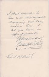 Autograph Letter Signed ('F Carruthers Gould')