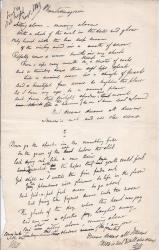 Corrected autograph draft of poem by E. L. Blanchard