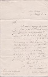 Secretarial Letter Signed ('FitzRoy Somerset') from Lord FitzRoy Somerset