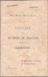 West Riding Rivers Board. Report upon Methods of Analysis adopted in the Laborat