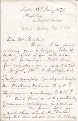 "Autograph Letter Signed 'Frederick J. Hanbury"", botanist"