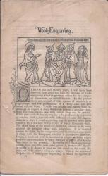 [Printed pamphlet.] Wood-Engraving.
