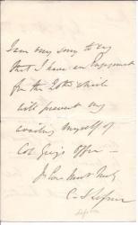 Autograph Letter Signed ['G Shaw Lefevre'] from George John Shaw-Lefevre