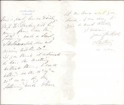 Autograph Letter Signed ['Lathom'] from Edward Bootle-Wilbraham