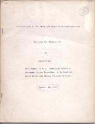 Contributions to the Fauna and Flora of Southwestern Asia