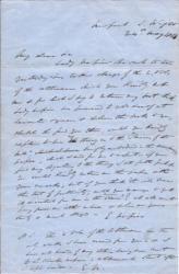 Autograph Letter Signed ('E. Napier') from Lieutenant-Colonel E. Elers Napier
