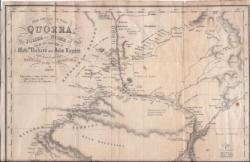 Map by A. B. Becher showing 'The Course of the Quorra