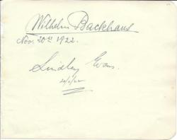 German pianist Wilhelm Backhaus and Australian pianist/composer Lindley Evans