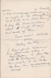 Autograph Letter Signed from the Irish poet Aubrey de Vere