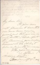 Autograph Letter Signed ('C. Bellew') from Lady Caroline Bellew