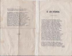 Handbill poem, containing precepts on the game of chess