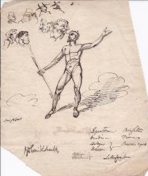 Leaf from the notebook of the Victorian artist George Cruikshank