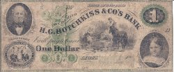 Rare $1 [one dollar] banknote issued by H. G. Hotchkiss