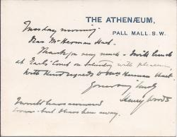Autograph Postcard Signed to Holman Hunt