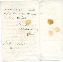 Frederick John William Lambart, Earl of the County of Cavan, Letter
