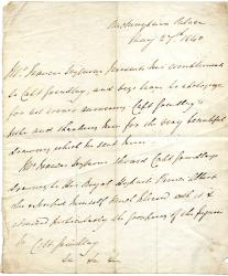 General Sir Francis Seymour, army officer, Albert's Groom-in-Waiting, Letter