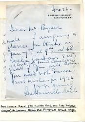 """Louise Dale"", singer, Letters"