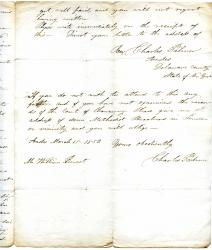 Charles Palmer [the Townley Estate; the Heir at Law Society, Letter