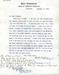 W. H. H. Southerland, (1852-1933)], US Admiral, Letter