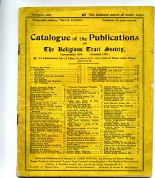 Three printed catalogues of publications by the Religious Tract Society