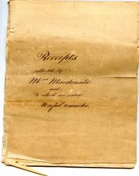 Manuscript book of 'Receipts collected by Mrs. Macdonald