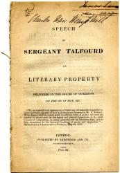 Speech of Sergeant Talfourd on Literary Property