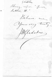[Spelling Reform] Autograph Letter Signed J.H. Gladstone, chemist