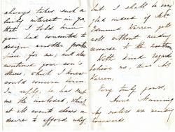 """Autograph Letter Signed """"Anne Manning"""", novelist"""
