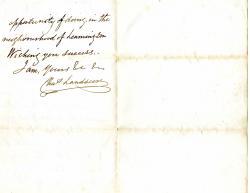 Autograph Letter Signed ('Chas Landseer')