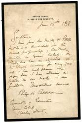Autograph Letter Signed ('Philip H. Calderon', artist)
