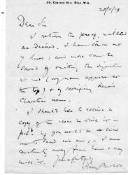 "Autograph Letter Signed ""Henry Newbolt"", poet and historia"